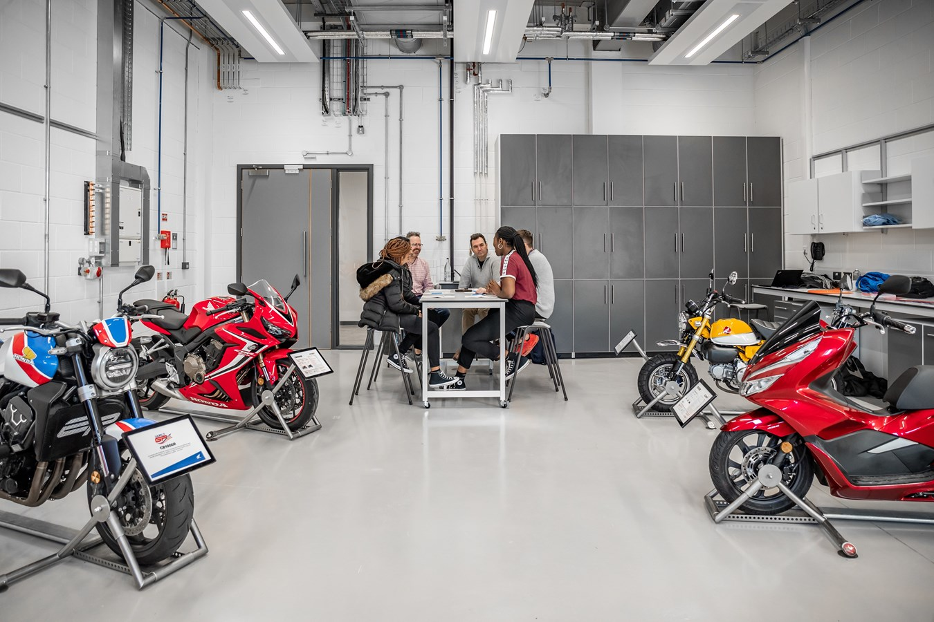 Honda UK collaborates with Nottingham Trent University to showcase motorcycles to students
