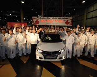 Honda celebrates the start of New Civic Production and announces 500 new jobs as Swindon plant doubles production volume