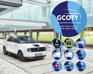 HONDA E BECOMES FIRST JAPANESE VEHICLE TO WIN 'GERMAN CAR OF THE YEAR'; ADDS TO GROWING TALLY OF GLOBAL ACCOLADES