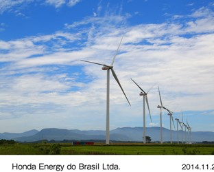 Honda Begins Operation of the First Wind Farm by an Automaker in Brazil
