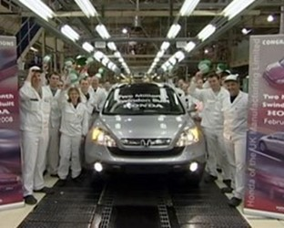 Honda of the UK Manufacturing - Two Millionth Car Built