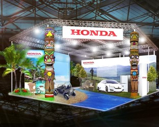 Overview of Honda Exhibit at SMART MOBILITY CITY 2015