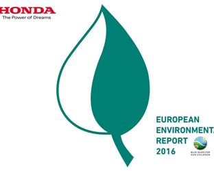 HONDA ISSUES EUROPEAN ENVIRONMENTAL REPORT 2016