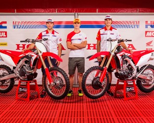 Honda's factory teams unveil 2017 Honda CRFs at MXGP of The Netherlands