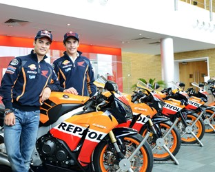 Repsol Honda MotoGP riders visit Honda's European Head Office