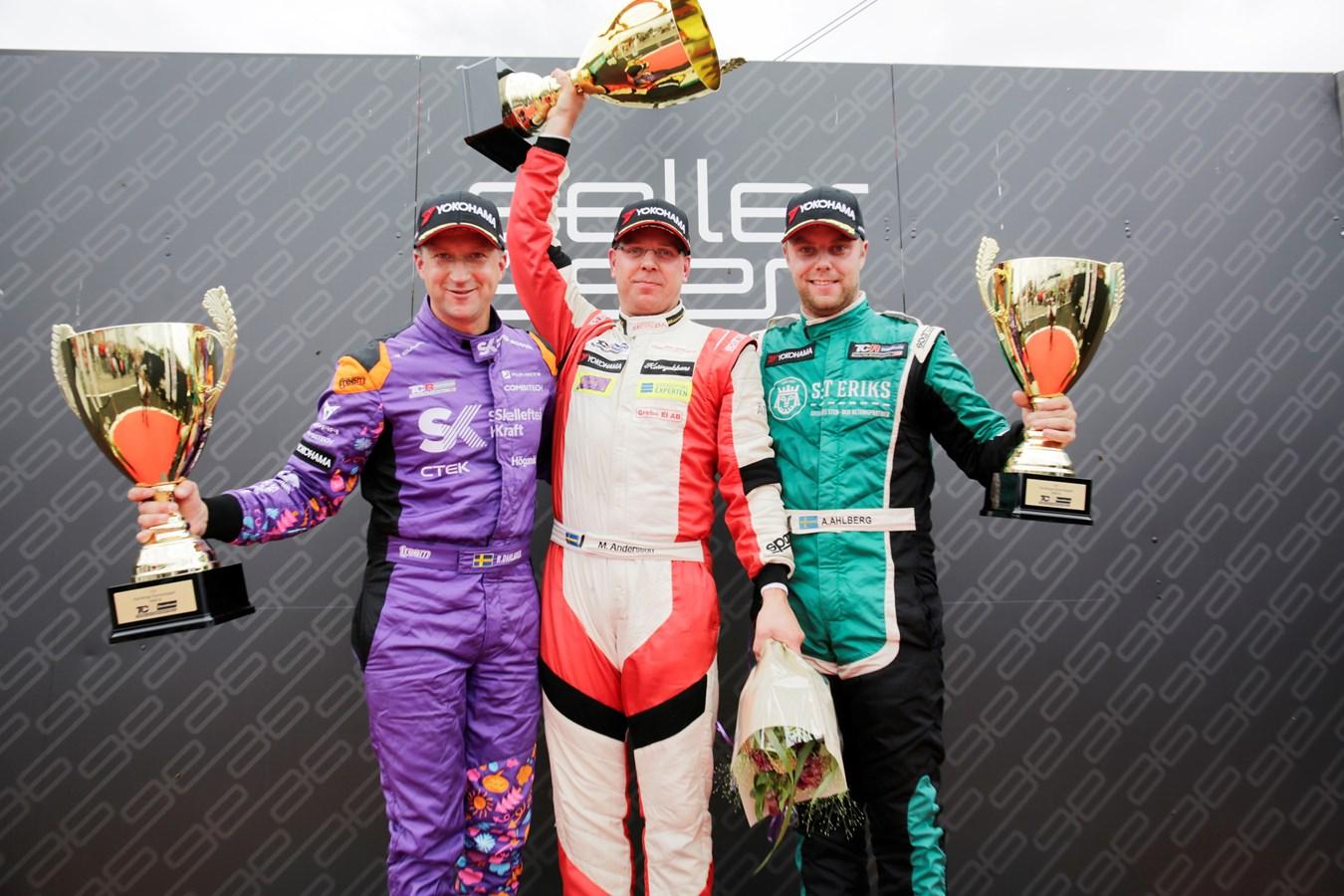 Hondaseger i TCR när Mattias Andersson vann Kanonloppet